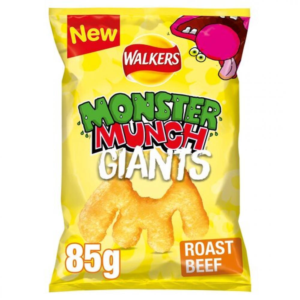 Walkers Monster Munch Giants Roast Beef 85g
