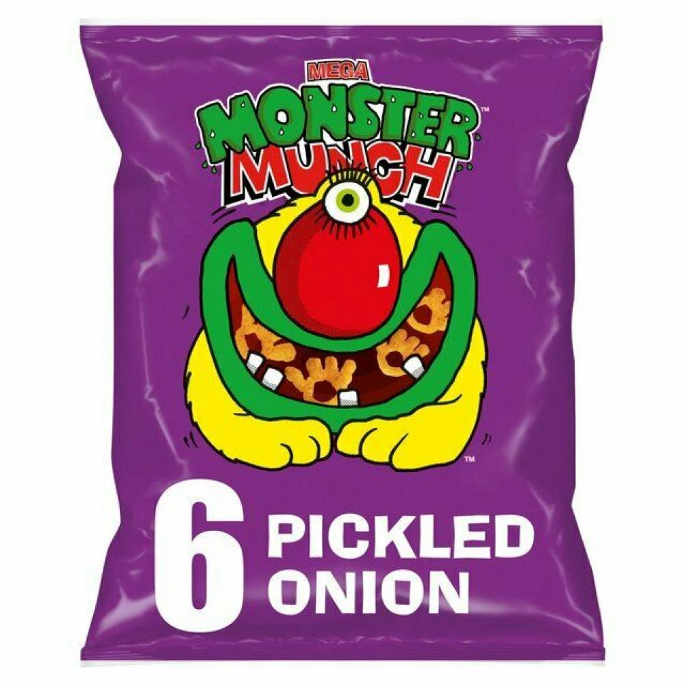 Walkers Monster Munch Pickled Onion Flavour 22g x 6