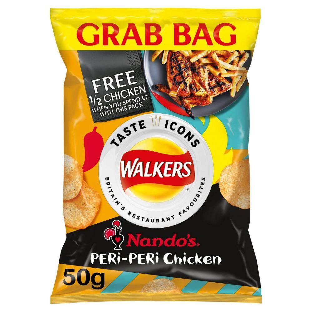 Walkers Nandos Peri Peri Chiken Flavour Grab Bag 50g