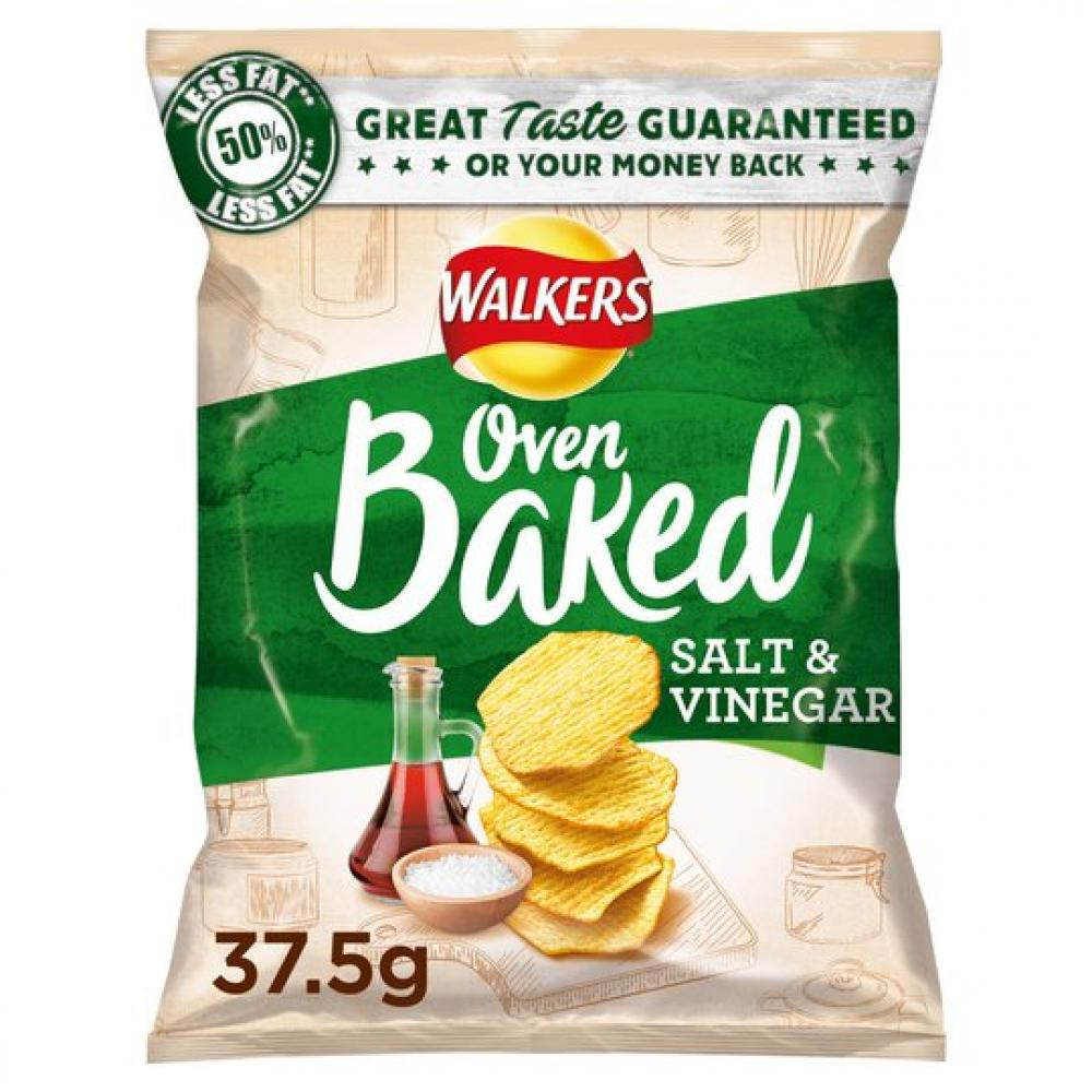 20 UNDER 20  Walkers Oven Baked Salt and Vinegar 37.5g
