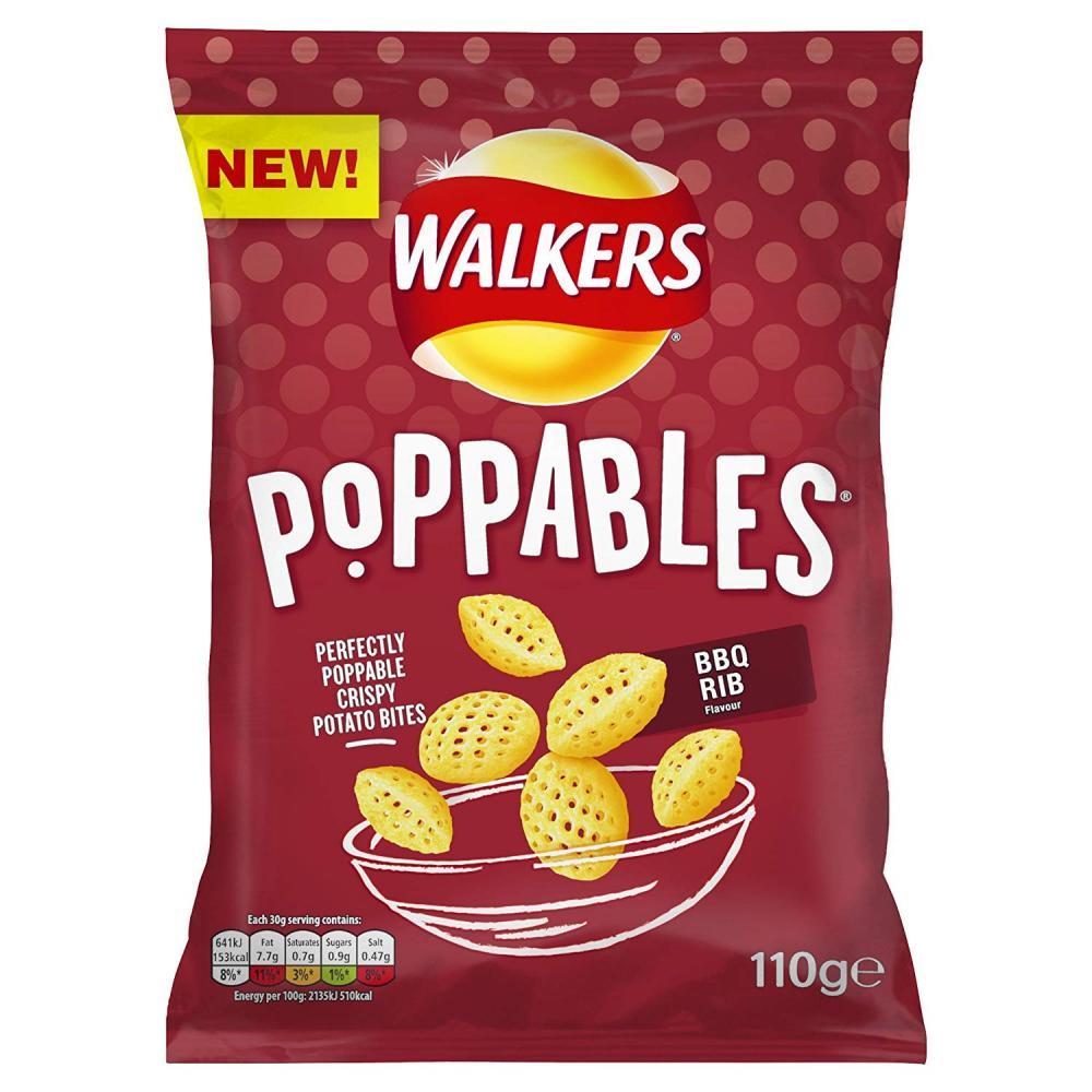Walkers Poppables BBQ Rib 110g