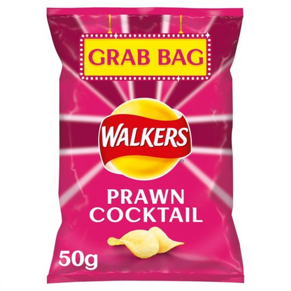 Walkers Prawn Cocktail Flavour Crisps Grab Bag 50g