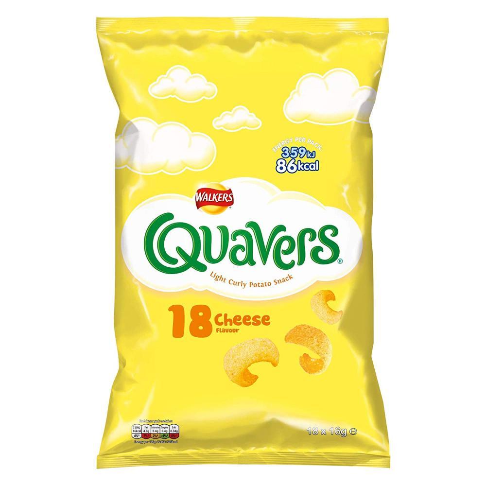 Walkers Quavers Case Pack Snacks 18x16g