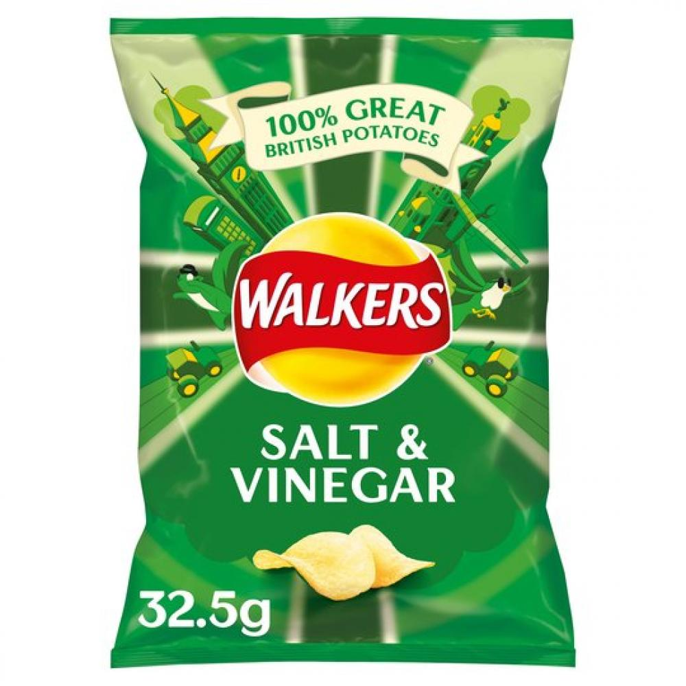 Walkers Salt and Vinegar Crisps 32.5g
