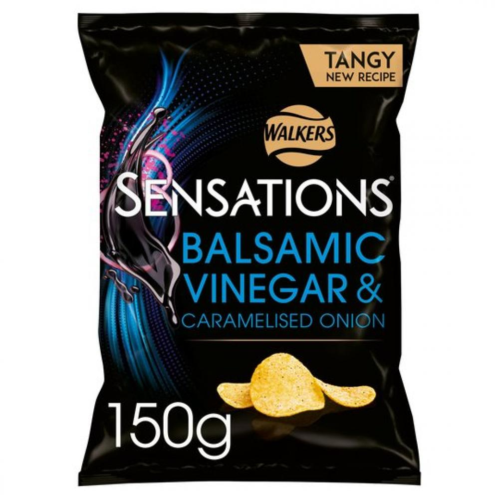 BLACK FRIDAY SPECIAL  Walkers Sensations Balsamic Vinegar and Caramelised Onion Sharing Crisps 150g