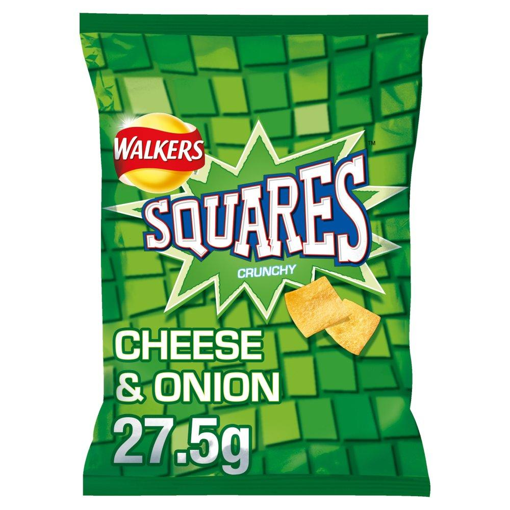 Walkers Squares Cheese and Onion Flavour 27.5g