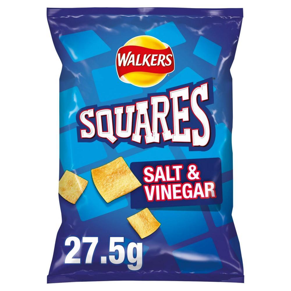 Walkers Squares Salt and Vinegar 27.5g