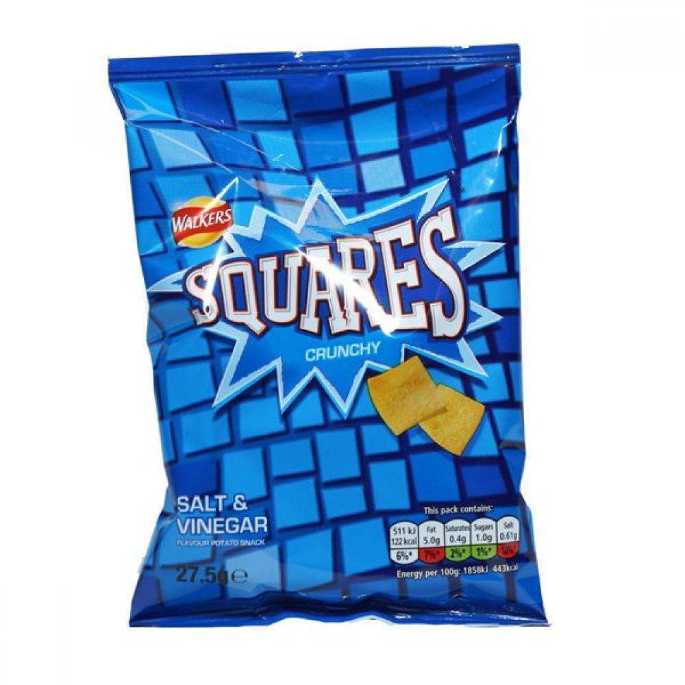Walkers Squares Salt and Vinegar Flavour 27.5g