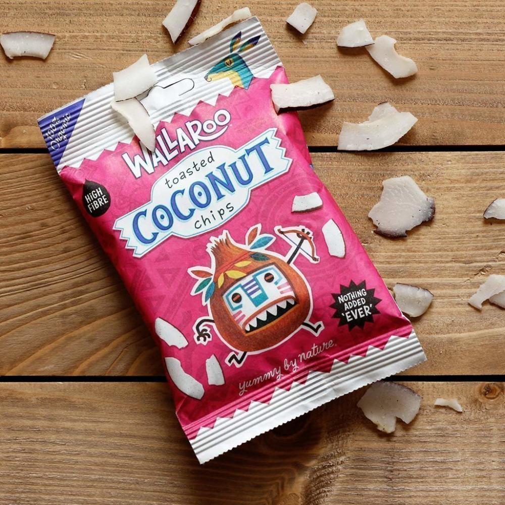 Wallaroo Toasted Organic Coconut Chips 30 g