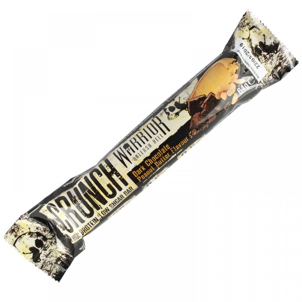 Warrior Crunch High Protein Low Carb BarDark Chocolate Peanut Butter 64g