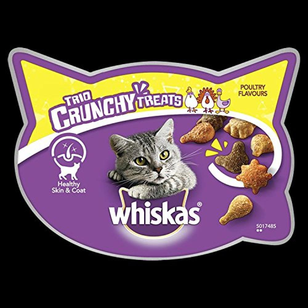 Whiskas Trio Crunchy Poultry Flavours Cat Treats 55g