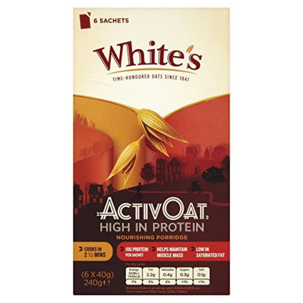 Whites Activ Oat High Protein Sachets 240g 6 sachets