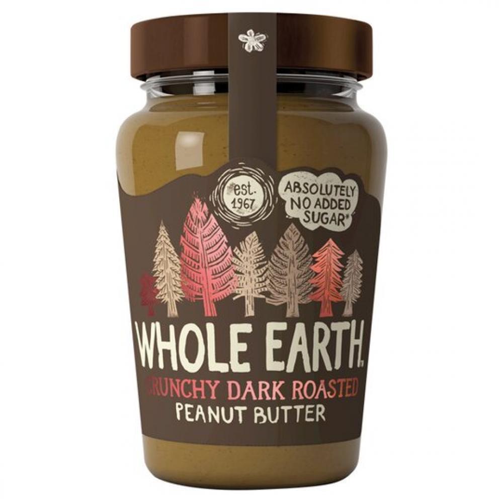Whole Earth Crunchy Dark Roasted Peanut Butter 340g