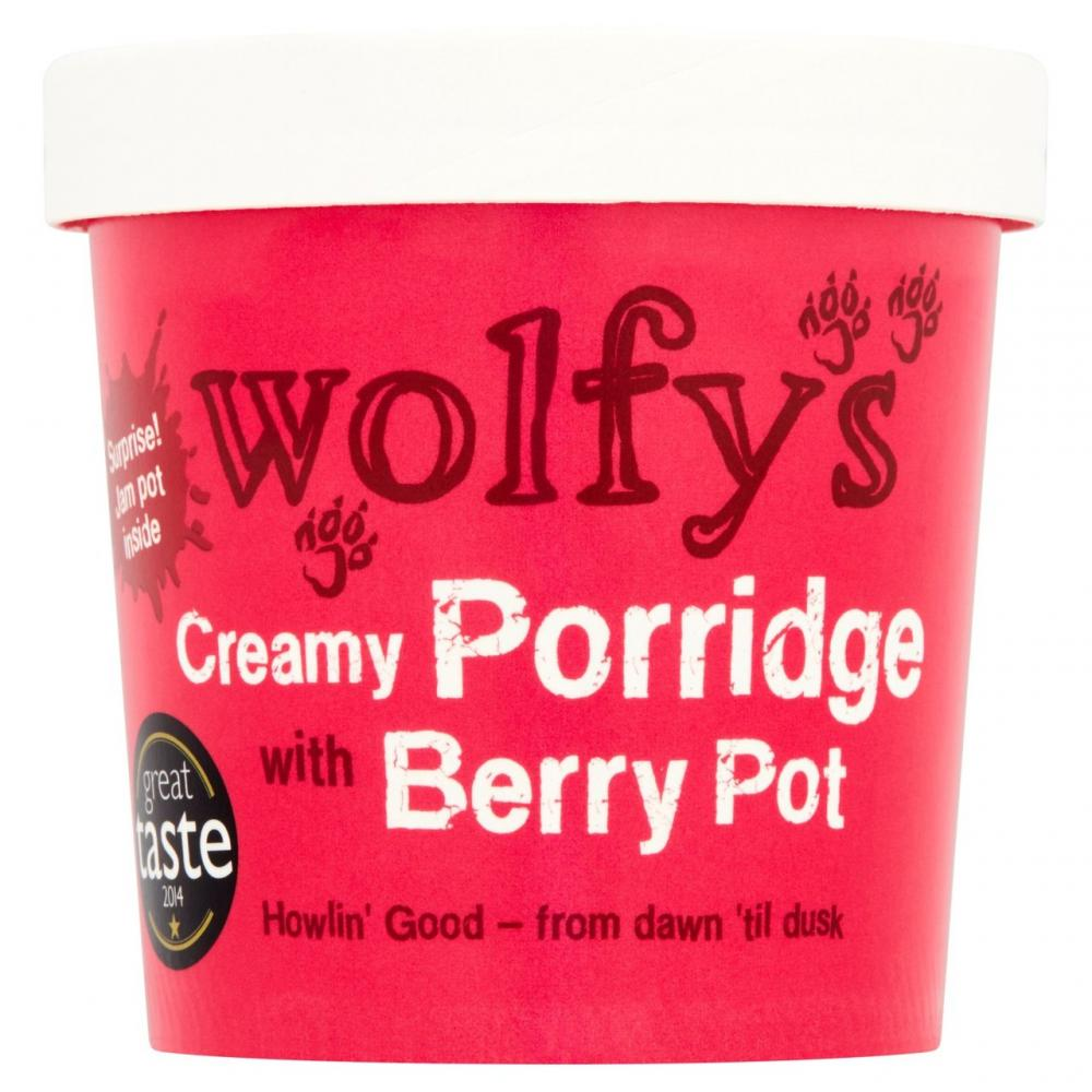 Wolfys Creamy Porridge with Berry Pot 100g