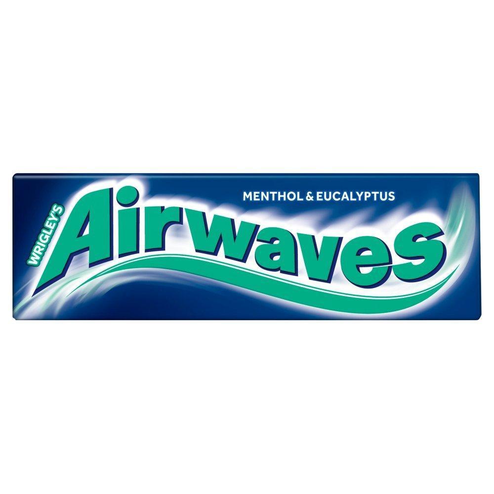 Wrigleys Airwaves Menthol And Eucalyptus Gum 14g 10 pieces