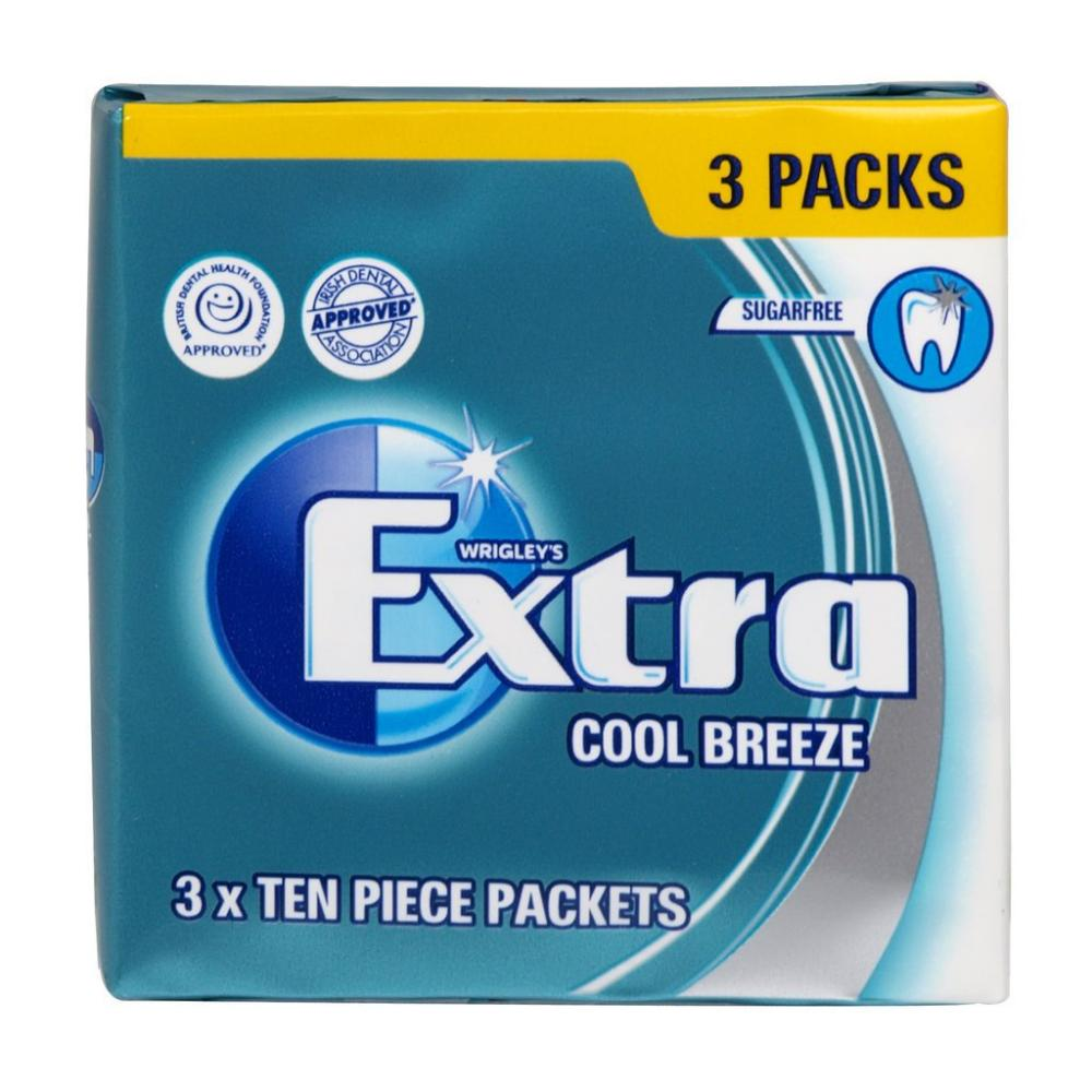 Wrigleys Extra Cool Breeze 3 Ten Piece Packets