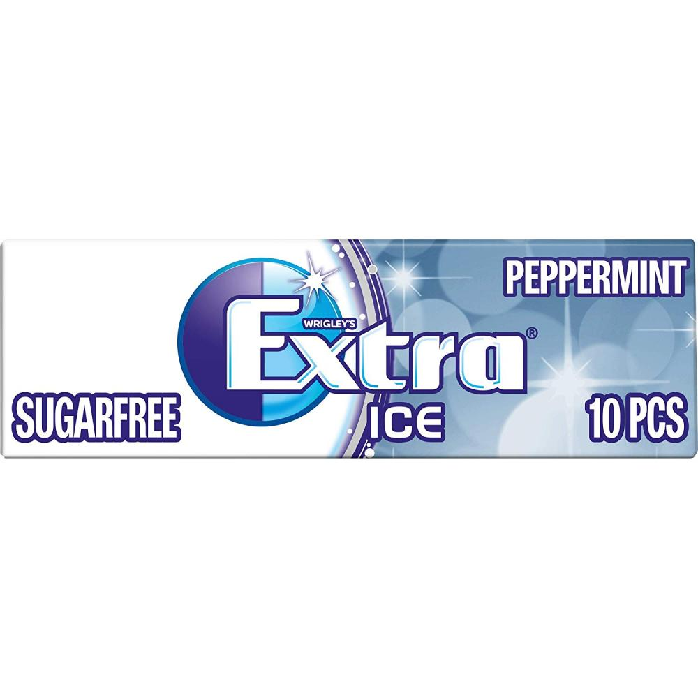Wrigleys Extra Ice Peppermint Sugarfree Gum with Microgranules 10 pieces