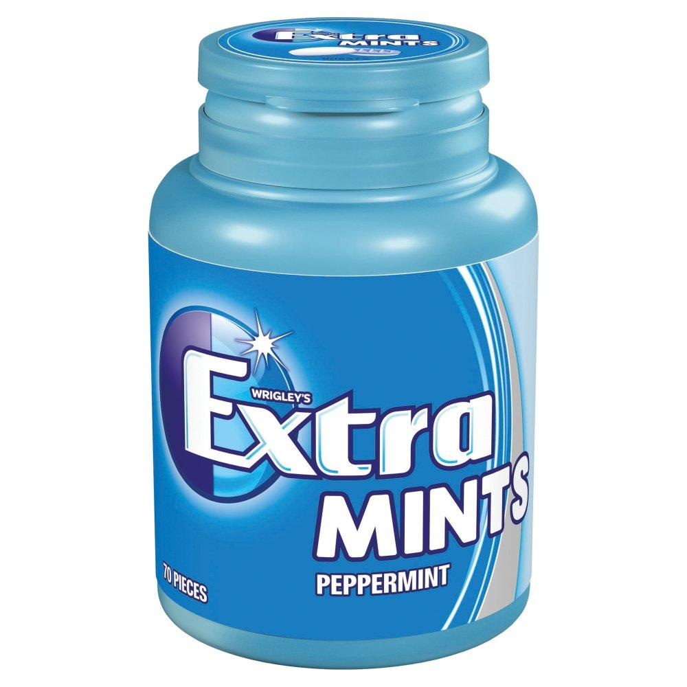 Wrigleys Extra Mints Sugar Free Bottle 77g 70 pieces