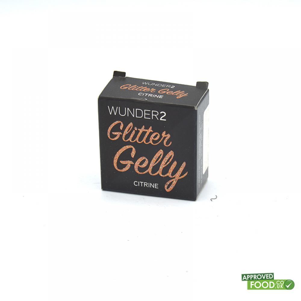 WUNDER2 GLITTER GELLY Long Lasting Glitter Gel Citrine Color 1.5ml