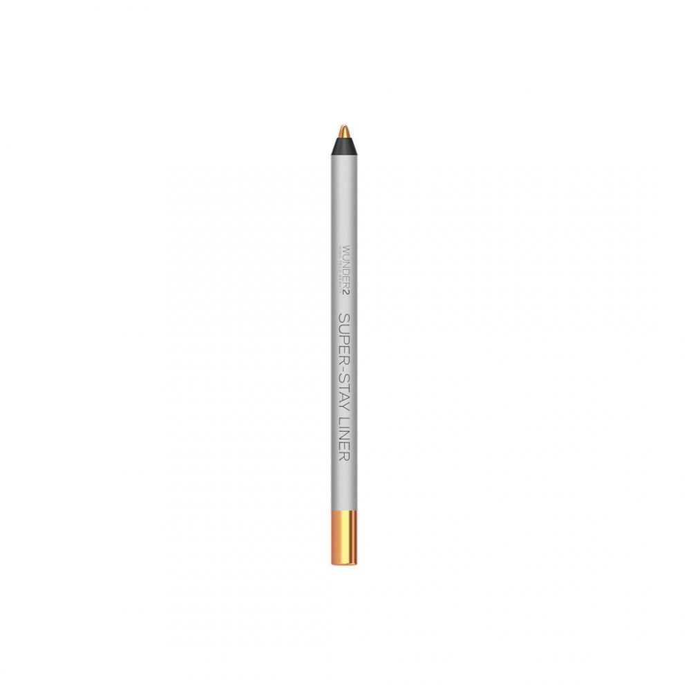 WUNDER2 Super-Stay Liner Long-Lasting and Waterproof Colored Eyeliner Metallic Peach 1.2g