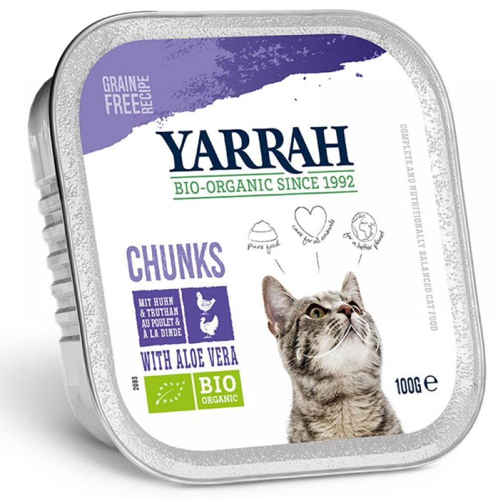 Yarrah Organic Wet Cat Food with Chicken and Herring 100g