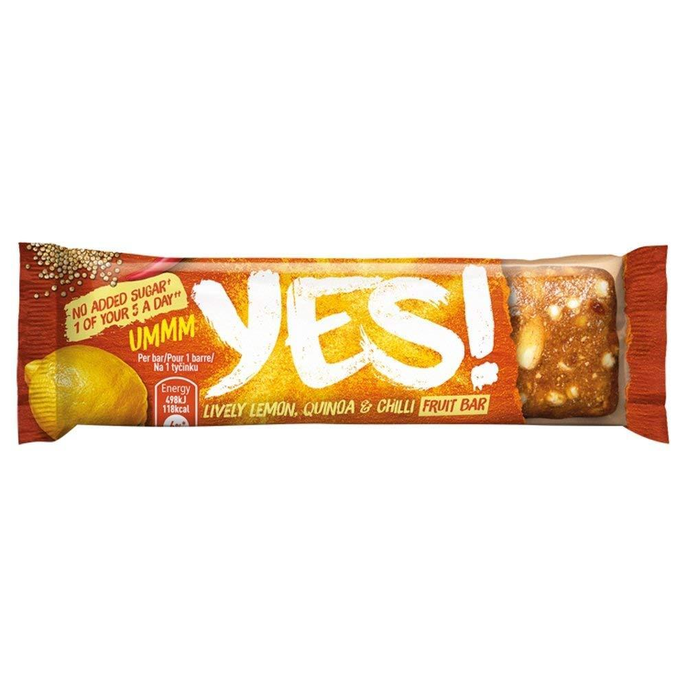 Yes Lemon Quinoa and Chilli Snack Bar 32g