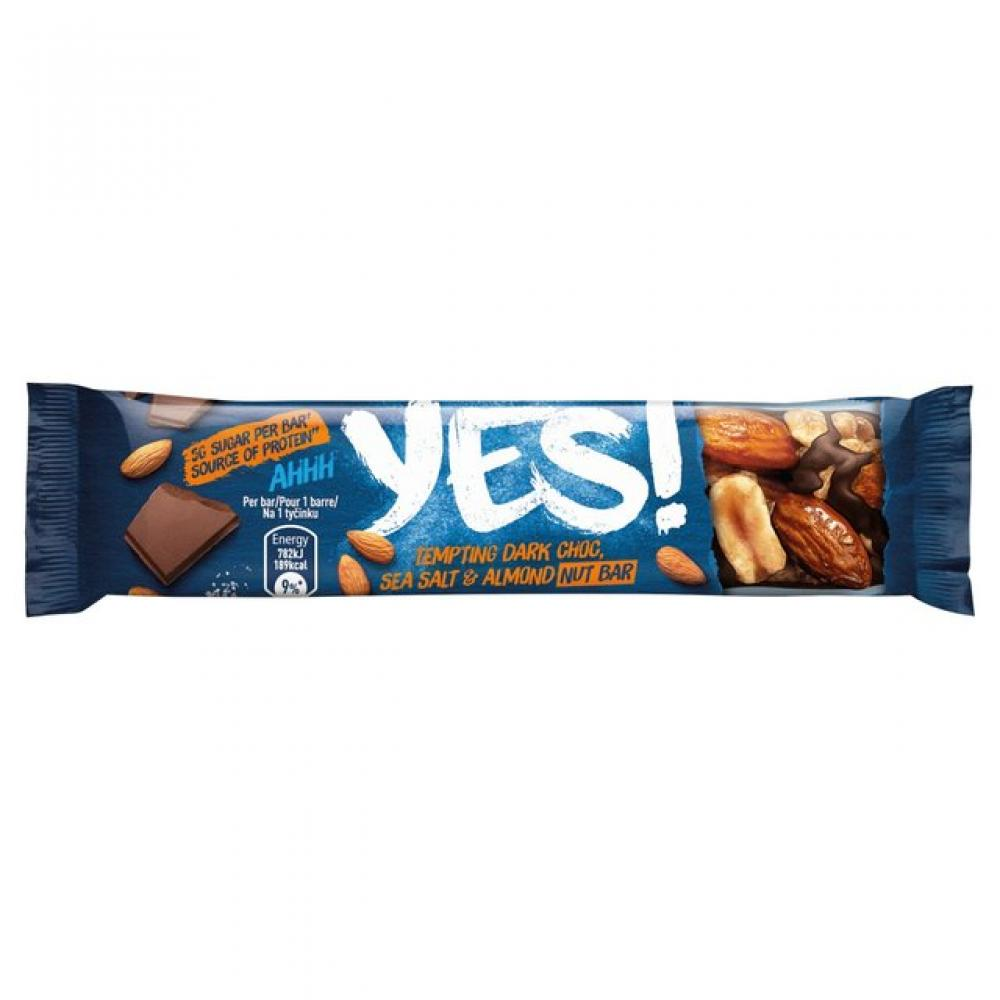 Yes Sea Salt and Dark Chocolate Nut Bar 35g