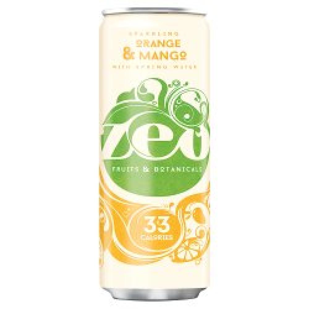 Zeo Sparkling Orange and Mango Spring Water 330ml