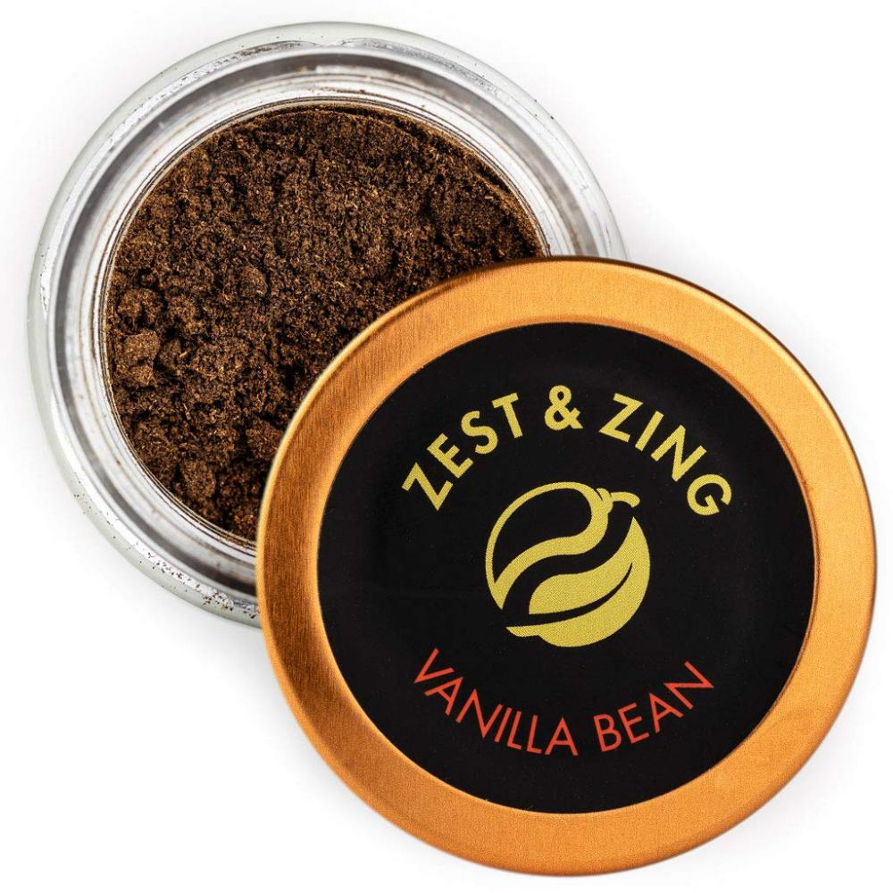 Zest And Zing Vanilla Bean Powder Organic Premium Madagascan Ground 15g