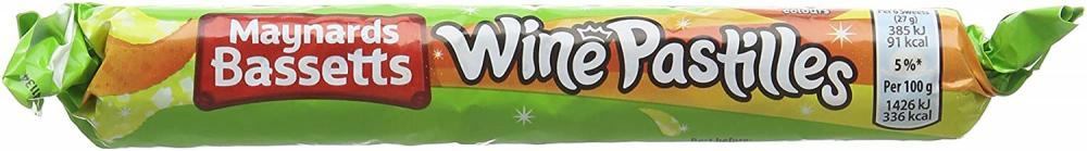 Maynards Bassetts Wine Pastilles Roll 52g