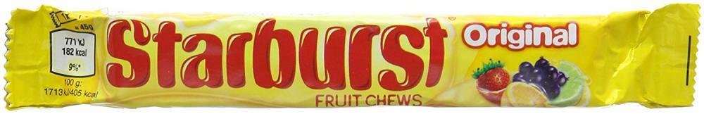Starburst Original Fruit Chews Roll 45g