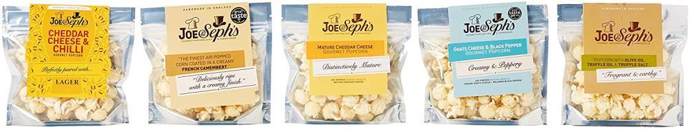 Joe and Sephs Savoury Popcorn Selection 5 Pack