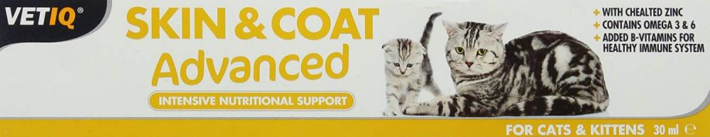 VetIQ Skin and Coat Advanced for Cats and Kitten 30ml
