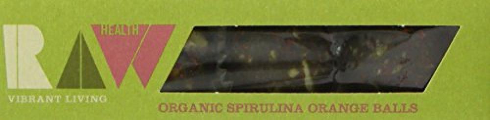 Raw Health Spirulina Orange Energy Balls Organic 60 g