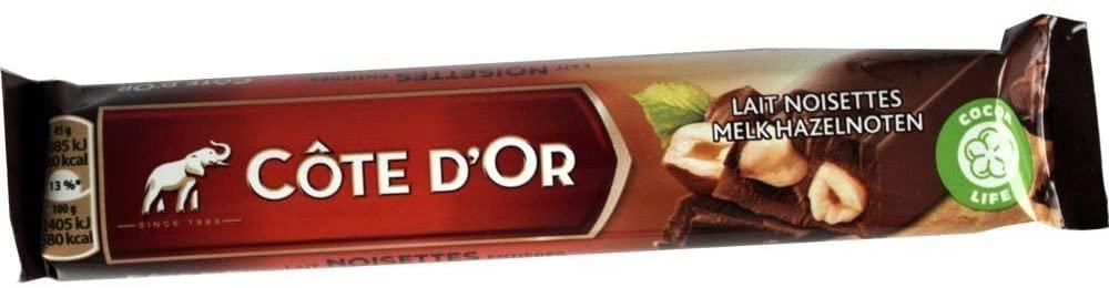 Cote d or Milk Whole Nuts Bar 45 g