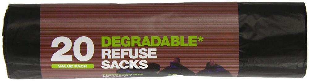 D2W Black 20 Degradable Refuse Sacks