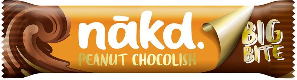 Nakd Peanut Chocolish Big Bite Fruit and Nut Bar 50g