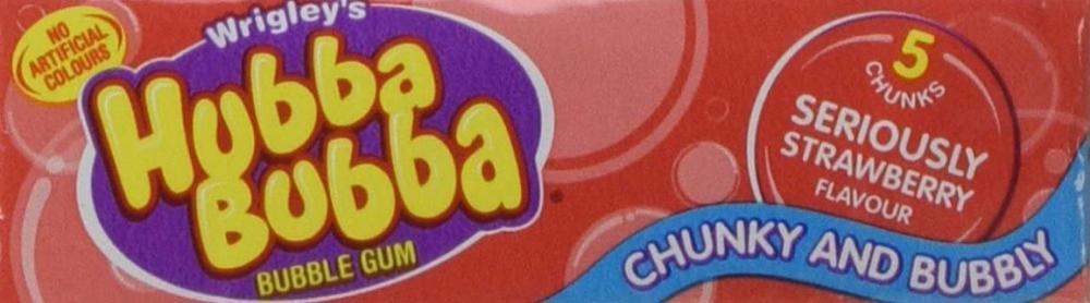 Wrigleys Hubba Bubba Seriously Strawberrry Bubble Gum Pack of 5