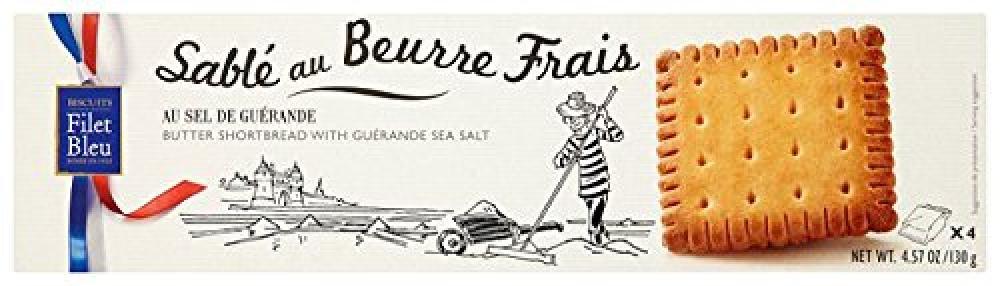 Filet Bleu Butter Shortbread with Guerande Sea Salt 130g