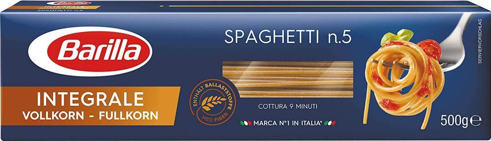 Barilla Spaghetti N. 5 IntegraleWhole Wheat 500 g