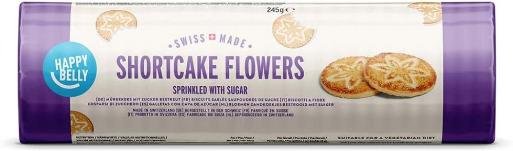 SALE  Happy Belly Sprinkled Shortcake Flowers 245g