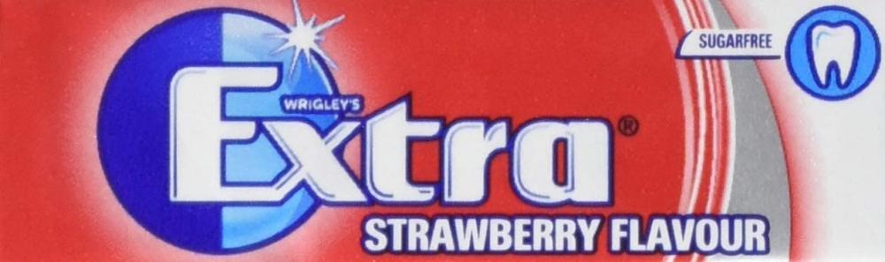 Wrigleys Extra Chewing Gum Sugar Free Strawberry Flavour 10 Pieces