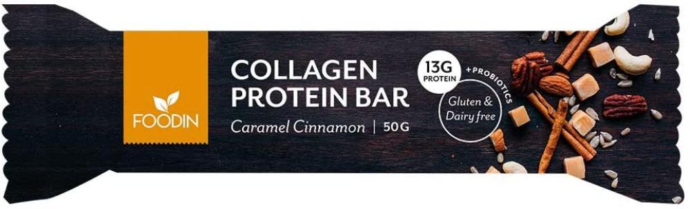 Foodin Cinnamon Caramel Collagen Protein Bar 50g