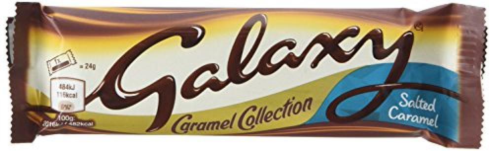 Galaxy Salted Caramel Twin Chocolate Bar 48 g