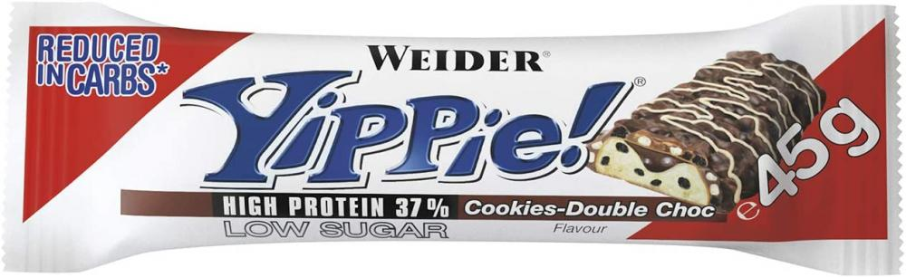 Weider Yippie Protein Bar Cookies Double Chocolate 45 g