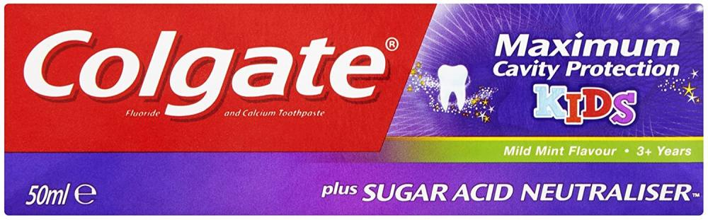 Colgate Maximum Cavity Protection 3 Kids Toothpaste 50ml Damaged Box