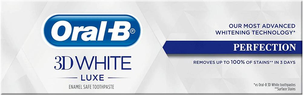 Oral B 3D White Luxe Perfection Toothpaste 75ml