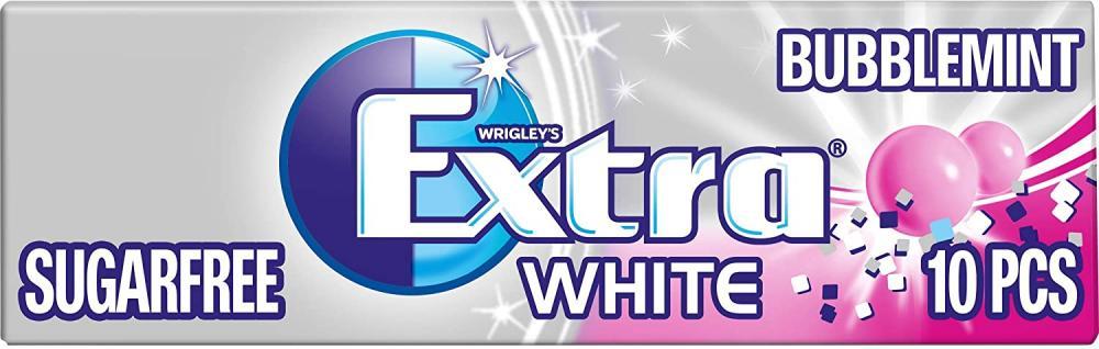 Wrigleys Extra White Sugarfree Bubblemint 10 Pieces