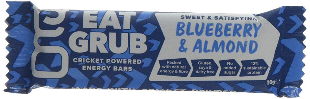 Eat Grub Cricket Powered Energy Bar - Blueberry and Almond 36g