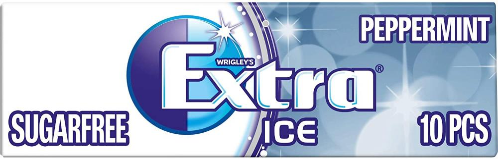 Wrigleys Extra Ice Peppermint Sugarfree Gum 14g